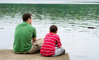 Father_boy_lake